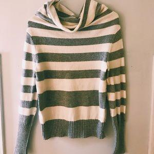 Long Sleeve Striped Grey Sweater